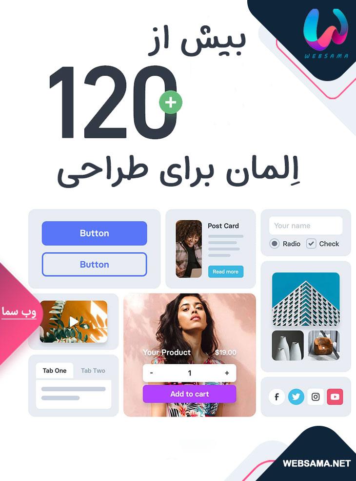 با قالب آوادا 120 المان اختصاصی برای وب سایت